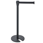 Black Stackable Stanchion with Matte Finish