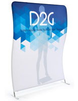 Double Sided 6' Wide Wave Backdrop with Digital Printing