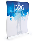 Single Sided 6' Wide Wave Backdrop with Full Color Graphics