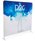 Single Sided 8' Wide Banner Backdrop with Dye-Sub Printing