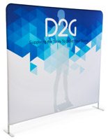 Single Sided 8' Wide Banner Backdrop Includes Customized Graphics