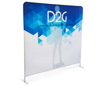Single Sided 8' Wide Banner Backdrop with Full Color Graphics