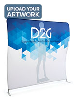 Double Sided 8' Wide Wave Backdrop with Dye-Sub Printing