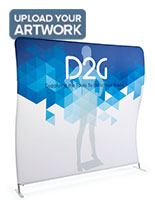 Single Sided 8' Wide Wave Backdrop with Graphics