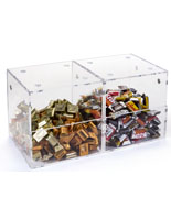 Set of 2 Plastic Display Containers with Magnets