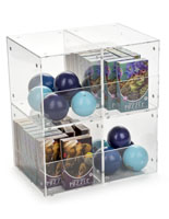 Set of 4 Plastic Display Containers with Magnets