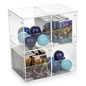 Stackable Set of 4 Plastic Display Containers