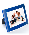 Blue 4x6 Curved Picture Frame