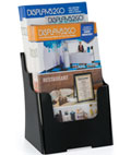 Black 6.5x8 Two Tier Leaflet Holder