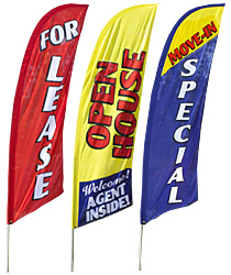 stock print real estate flags