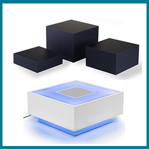 Acrylic Countertop Risers for Digital Product Images