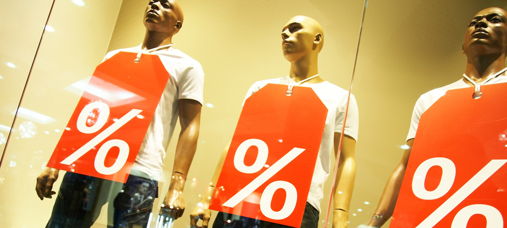 Mannequins with Sale Tags