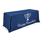 "6' ""Happy Hanukkah"" cloth table cover for trade shows"