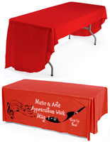 Red Custom Table Cover
