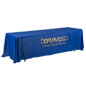 Metallic Lettering 8' Blue Table Cover w/ Vinyl Heat Transfer Customization