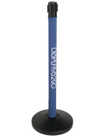 Directional Signage Custom Stanchion Wrap