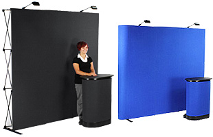 Straight Hook and Loop Receptive Display Walls