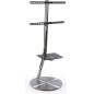 Stainless Steel TV Stand with Wheels
