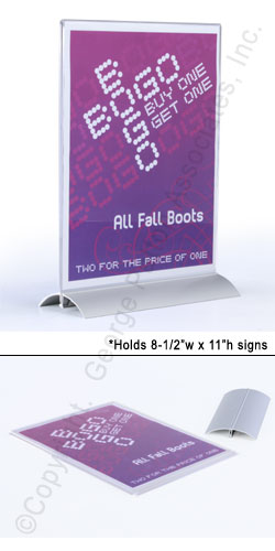 desktop sign holder