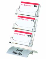 Acrylic 3-Pocket Card Display with Printed Logo