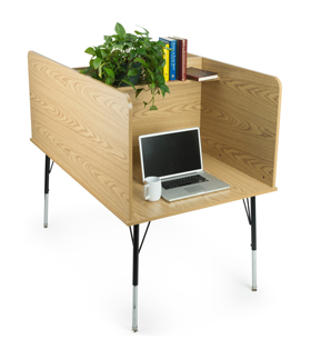 study carrels with double-side design