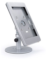 Silver Surface Pro counter kiosk stand