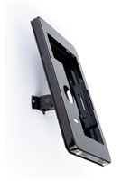 Black Microsoft Surface Pro wall mount with portrait or landscape orientation