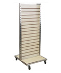 Rolling Slatwall Gondola with Double Sided Panel