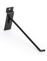 "Durable Slatwall 8"" Black Display Hook"