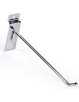 "Angled 8"" Chrome Display Hook for Slat Panel"