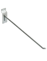 12 Inch Chrome Slatwall Hook with Satin Finish