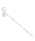 Metal 12 Inch White Slatwall Hook
