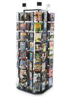 Spinning DVD Tower with Triangle Base