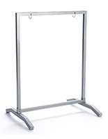 Weighted base 22x28 silver metal sidewalk hang frame