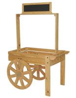 wood vendor cart
