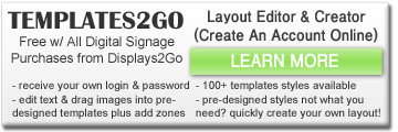 templates2go custom signage templates