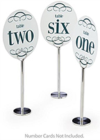 menu card holder table stanchions
