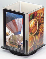 Use this table tent to increase your tabletop advertising.