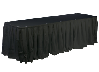 table skirt, clips and cover kits