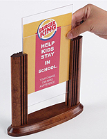 counter top sign displays & Table Tents | Counter u0026 Tabletop Menu or Sign Holders
