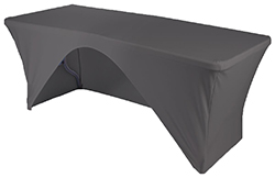 Table with black cover