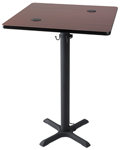 table with wireless charging