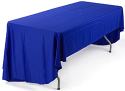 custom text trade show tablecloths