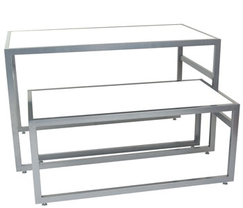 Merchandising Display Shelves and Tables