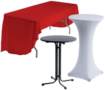 Tables with Tablecloths