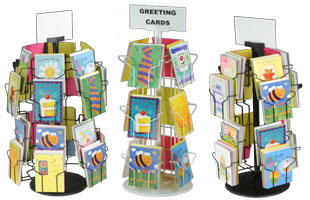 wire greeting card displays