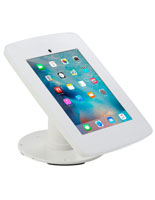 White iPad Checkout Stand with 2 Faceplate Options