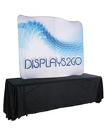 Curved Table Top Trade Show Display