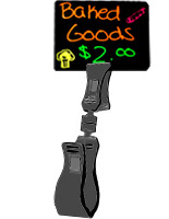 Sold in Packs of 100 Plastic Construction RDSD4312BK Ball Joint Design Displays2go Deli Tags Glossy Black Finish