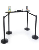 Stanchion Writing Surface with Retractable Belts